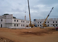 Autoclaved Aerated Concrete Vertical Load Bearing Panel System was used on this project