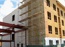Autoclaved Aerated Concrete Vertical Load Bearing Wall Panel System and Floor Panel System was used on this project